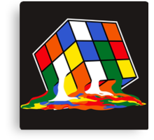 SHELDON COOPER BIG BANG THEORY MELTED MELTING RUBIKS CUBE POP CULTURE Canvas Print