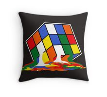 SHELDON COOPER BIG BANG THEORY MELTED MELTING RUBIKS CUBE POP CULTURE Throw Pillow