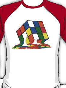 SHELDON COOPER BIG BANG THEORY MELTED MELTING RUBIKS CUBE POP CULTURE T-Shirt