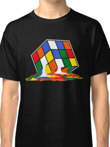 SHELDON COOPER BIG BANG THEORY MELTED MELTING RUBIKS CUBE POP CULTURE Classic T-Shirt