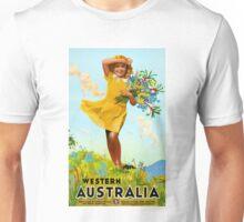 Western Australia Restored Vintage Travel Poster Unisex T-Shirt