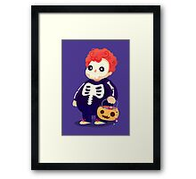 Halloween Kids - Skeleton Framed Print