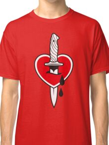 heart with knife Classic T-Shirt