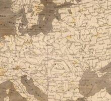 Vintage Map of Europe (1804)  Sticker