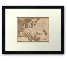 Vintage Map of Europe (1804)  Framed Print