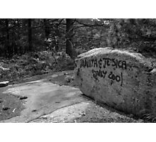 Graffiti Rock Photographic Print