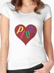 Live The PLUR Life Women's Fitted Scoop T-Shirt