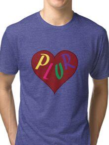 Live The PLUR Life Tri-blend T-Shirt