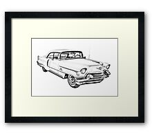 1956 Sedan Deville Cadillac Car Illustration Framed Print