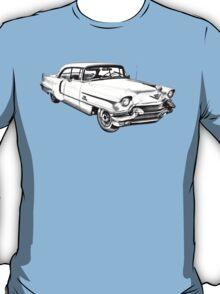 1956 Sedan Deville Cadillac Car Illustration T-Shirt