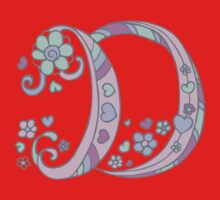 The letter D name monogram initial One Piece - Short Sleeve