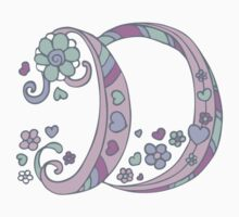 The letter D name monogram initial Kids Clothes