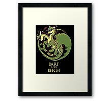How to train your Targaryen - Zippleback Framed Print