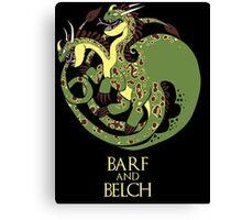 How to train your Targaryen - Zippleback Canvas Print