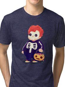 Halloween Kids - Skeleton Tri-blend T-Shirt