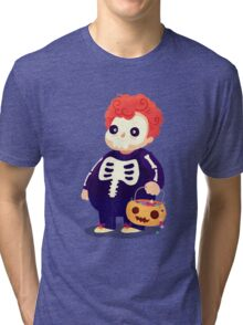 Halloween Kids - Skeleton Tri-blend T-Shirt