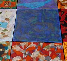 Colorful Abstract Patchwork by Holly Cannell by hollycannell