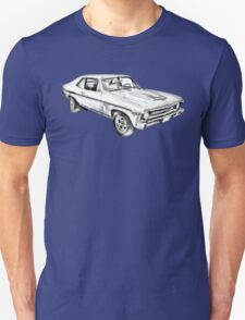 1969 Chevrolet Nova Yenko 427 Muscle Car Illustration Unisex T-Shirt