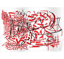 Abstract typographic graffiti art Poster