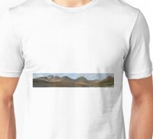 Loch Slapin and The Cuillins - Panorama Unisex T-Shirt