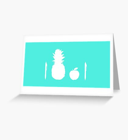 Pen Pineapple Apple Pen (White) Greeting Card