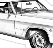 1965 Chevy Impala 327 Convertible Illuistration Sticker