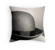 Bowler Hat Throw Pillow