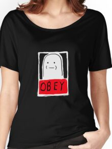 OBEY white Women's Relaxed Fit T-Shirt