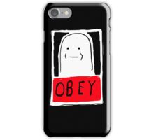 OBEY white iPhone Case/Skin