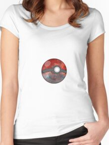 Galaxy Pokeball  Women's Fitted Scoop T-Shirt