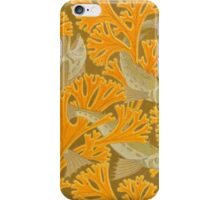 Vintage Art Deco Fish and Yellow Coral iPhone Case/Skin