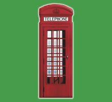 Red, phone, telephone, box, Kiosk, London, England, British, UK One Piece - Short Sleeve
