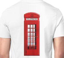 Red, phone, telephone, box, Kiosk, London, England, British, UK Unisex T-Shirt