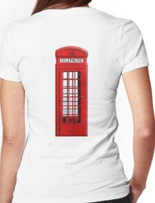 TELEPHONE BOX, Red, phone, Kiosk, London, England, British, UK Womens Fitted T-Shirt