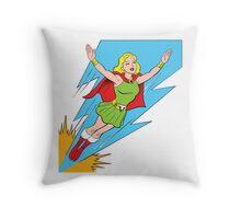 Thunder Girl - The World's Mightiest Girl Throw Pillow