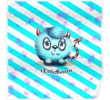 Little Blue Monster - Stripes Poster