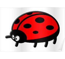 LADYBUG, Cartoon, LADYBIRD, Lady Bird, Lady Bug,  Poster