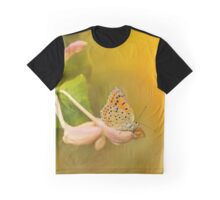 Phengaris teleius butterfly on honey suckle flowers Graphic T-Shirt