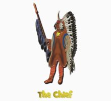 Mandan Red Indian Chief T-shirt Kids Clothes