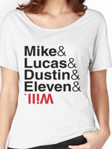 Mike Lucas Dustin Eleven Will Cast Things Women's Relaxed Fit T-Shirt