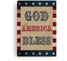 God Bless America Patriotic Canvas Print