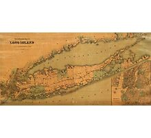 Map of Long Island 1888 Photographic Print