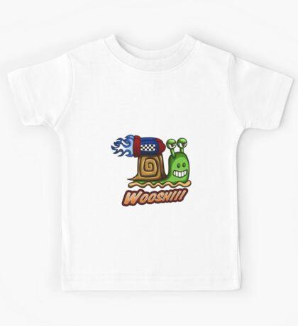 Super Speedy Rocket Snail Kids Tee
