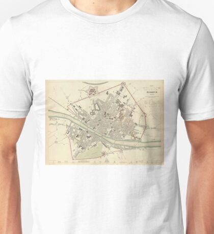 Vintage Map of Florence Italy (1835) Unisex T-Shirt