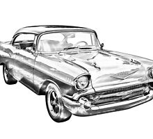1957 Chevy Belair Illustration by KWJphotoart