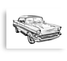 1957 Chevy Belair Illustration Canvas Print
