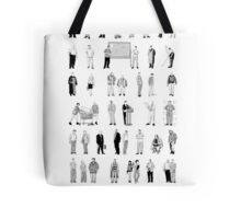 52 Characters From The Wire Tote Bag
