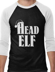 Christmas Head Elf Men's Baseball ¾ T-Shirt