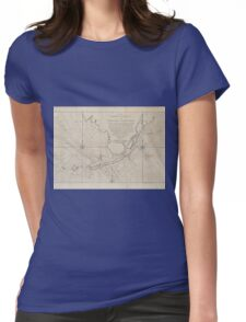 Vintage Map of The Florida Keys (1771) (2) Womens Fitted T-Shirt