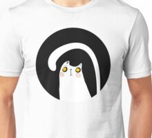 Dark Night White Cat Unisex T-Shirt